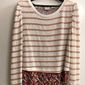 Anthropologie Postage Stamp layered top